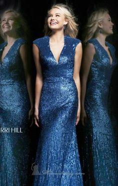 V neckline Gown by Sherri Hill 8529