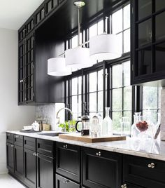 Painted Black Kitchen Cabinets Before And After. Black Kitchen Cabinets With Butcher Block Countertops. Black Kitchen Cabinets What Color Appliances.
