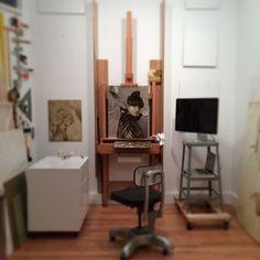 Brad Kunkle @bradrkunkle | Websta Brad Kunkle, Home Studio, Wood Work, Sorting, Ladder Decor, Studios, Artists, House, Painting