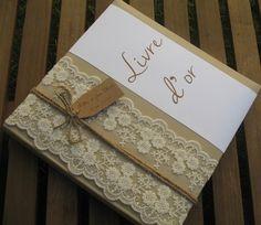 Livre d'or gamme |mariage dentelle|