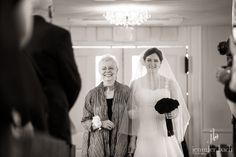 Love this image of Amanda and her mom walking down the aisle