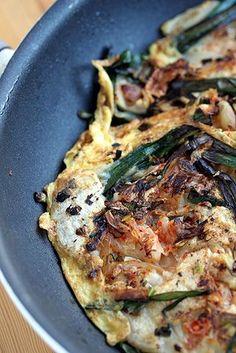 Pajeon - Korean scallion pancakes