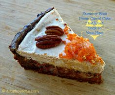 Summer Bliss Pecan Pie! #Raw, #Vegan, #Paleo, #GlutenFree  http://www.artisticvegan.com/summer-bliss-pecan-carrot-cake/