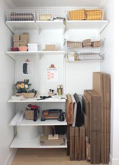 Closet transformed into second workspace   A Fabulous Fete