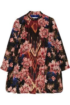 Oscar de la Renta Silk and wool-blend jacquard coat | NET-A-PORTER