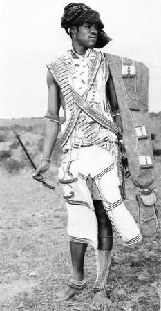 Xhosa man in traditional attire