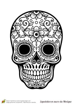 Skull in mexican sugar, flowers and harmony Hugolescargot com Samantha Smith is part of Skull coloring pages - Coloriage crâne en sucre mexicain, fleurs et harmonie Hugolescargot com Coloring skull in mexican sugar, flowers and harmony Hugolescargot com Mexican Skull Tattoos, Sugar Skull Tattoos, Sugar Skull Art, Mexican Skulls, Mexican Art, Sugar Skulls, Sugar Tattoo, Sugar Skull Design, Sugar Skull Drawings