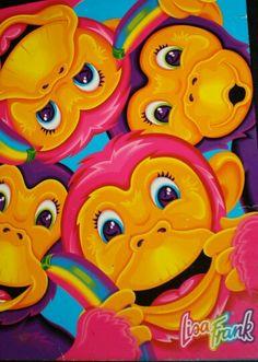Lisa Frank monkeys