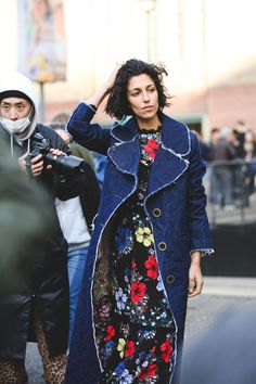 The Best Street Style At LFW AW16 #refinery29  http://www.refinery29.uk/2016/02/103500/street-style-london-fashion-week-aw16-news#slide-2  Yasmin Sewell nails the frayed denim trend....