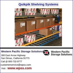 At Western Pacific we have found that using a combination of both pallet racks and multi-level gravity flow shelving such as our QuikPik system results in flexibility and quick-change adaptability.