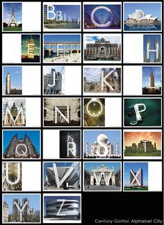 Typography - Alphabet Alphabet City, Typography Alphabet, Gothic Alphabet