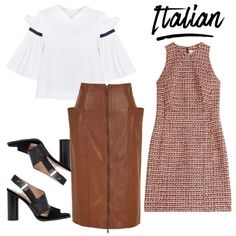 Italian women take a fairly formal approach to workwear. Donning feminine silhouettes in bold patterns, eye-catching hues and structural elements, these gals are pros at mastering proportions and pattern play with elegance.