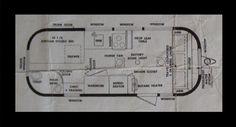 1956 Airstream Floor Plan