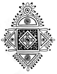 Folk Embroidery Design Indian Folk Designs: ~ Folk Designs from West Bengal ~ Embroidery Motifs, Learn Embroidery, Embroidery Designs, Madhubani Art, Madhubani Painting, Arabesque, Phad Painting, Indian Arts And Crafts, Indian Folk Art