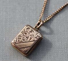 Victorian Book Locket Necklace by TheHiddenChamber on Etsy, $78.00