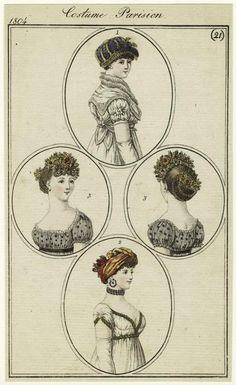 Costume Parisien, Journal des Dames et des Modes, 1804; NYPL 824123