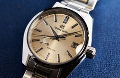 Pop the champagne and chase those blues away, Baselworld 2018 sees the release of the Grand Seiko Spring Drive and models. Time And Tide, Timing Is Everything, Luxury Watch Brands, Milan Design, Young Designers, Watch Companies, Seiko Watches, Patek Philippe, Breitling
