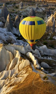 Cappadocia, Anatolia, Turkey #airballoon #travel #turkey