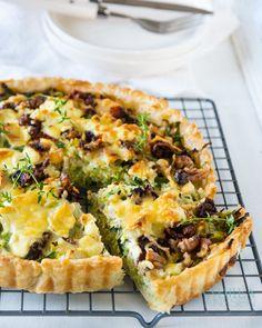 Quiche Recipes, Veggie Recipes, Healthy Recipes, Vegetarian Recipes, Leek Quiche, Good Food, Yummy Food, Breakfast Quiche, Goat Cheese
