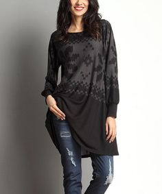 Love this Charcoal Nordic Tunic on #zulily! #zulilyfinds