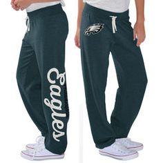 Women's G-III 4Her by Carl Banks Midnight Green Philadelphia Eagles Scrimmage  Fleece Pants