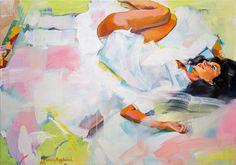 """ARTFINDER: """"Good morning world"""" by Natalia Baykalova - """"Good morning world"""" portrait  of Kseniya"""
