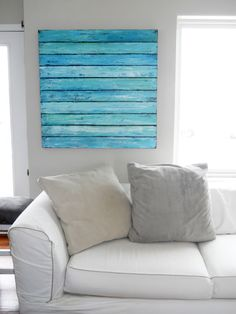 Create a Beach Reminder in Your Winter Home - beach diy - create a beach reminder in your winter home, crafts, diy, home decor - Plage Art Mural, Accra, Pallet Art, Pallet Ideas, Beach House Decor, Home Decor, Beach Signs, Beach Crafts, Deco Design