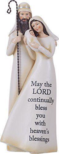 Heavens Blessings Holy Family 12.5 inch Resin Stone Christmas Nativity Figurine