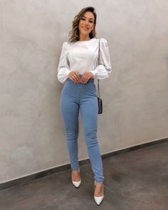 Look Casual Chic, Casual Work Outfits, Professional Outfits, Look Chic, Classy Outfits, Stylish Outfits, Office Outfits, Office Attire, Work Fashion