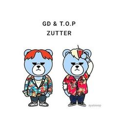 Krunk Bigbang, Gd And Top, Jiyong, G Dragon, Yg Entertainment, Disney Characters, Fictional Characters, Fan Art, Bear