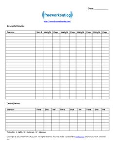 Diy Workout Log Book  DGSBeauty  Workouts