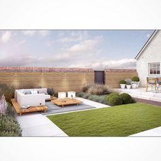 New landscape garden architecture tuin Ideas Modern Backyard, Modern Landscaping, Outdoor Landscaping, Outdoor Decor, Pond Design, Fence Design, Landscape Design, Eco Garden, Outside Plants
