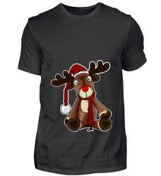 Braun Frohe Weihnachten Rentier Weihnachtsmann X-Mas T-Shirt als Geschenk