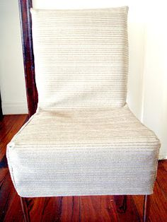 So you've alread heard a little about my ongoing dining room chair saga here and here . Call me crazy, but I decided to give them anoth...