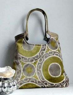 Circle tapestry tote bag in mustard  with jute di madebynanna, $72.00
