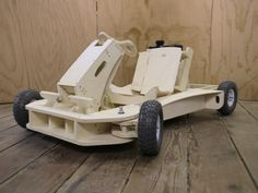 The Flatworks LLC is raising funds for PlyFly Go-Kart: A 25 MPH Wooden Roadster on Kickstarter! A complete gas powered wooden go-kart that is as much fun to build as it is to drive. Arrives in 3 boxes and assembles in 1 day. Cnc Projects, Projects For Kids, Wooden Go Kart, Woodworking Plans, Woodworking Projects, Wood Crafts, Diy And Crafts, Wood Toys, Wood Art