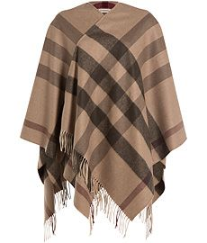 Printed Cashmere-Merino Wool Cape  from BURBERRY SHOES & ACCESSORIES