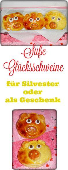 Süße Glücksschweine für Silvester oder einfach als Geschenk für die Lieben.