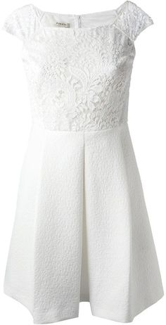 Pinko floral lace skater dress on shopstyle.com