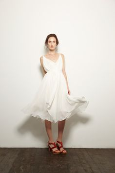 https://www.cityblis.com/item/1705  Silk Clouds Veil Squares Dress - Ivory - $678 by LP33.3  Delicate and feminine clouds veil squares dress from LP33.3 is the perfect evening dress, or ideal as a bridal or bridesmaids dress for a lush spring/summer wedding. Created in washed silk georgette with viscose lining, and a self sash that can be worn cinched or left romantically voluminous. Made i...  #