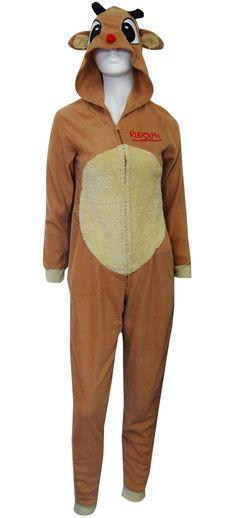 WebUndies.com Dress Like Rudolph The Red-Nosed Reindeer Onesie Pajama