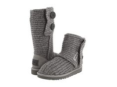 UGG Cardy in Grey - I'd def fit in big kids sizing and they're a lot cheaper then the adult sizing. Hmm...