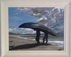 Currach Bristol Board, Irish Art, Belfast, The Row, Paint Colors, Boat, Paintings, Illustrations, Drawings
