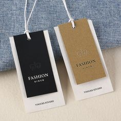 fashion tag Source fashion coated paper hang tag string custom logo printed tag on