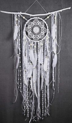 White Dreamcatcher Boho Dream Catcher Large white crochet dreamcatcher gift wedding ceremony photo backdrop Dreamcatcher Bohemian handmade This amulet like Dreamcatcher - is not just a decoration of the interior. It is a powerful amulet, which is endowed Dream Catcher White, Large Dream Catcher, Dream Catcher Boho, Dream Catcher Wedding, Dream Catcher Decor, White Bohemian, Bohemian Decor, Crochet Dreamcatcher, White Dreamcatcher