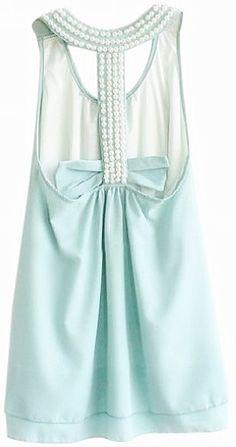 Pretty Pearl Racer Back Dress...WANT!