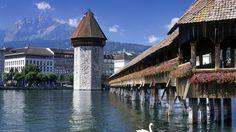 Chapel-Bridge-Lucerne-Switzerland #Lucerne #Switzerland #travel #travelpics