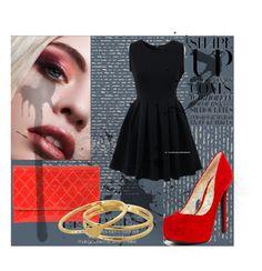 """:))"" by semafake ❤ liked on Polyvore featuring mode, Chicnova Fashion, Jessica Simpson et Gorjana"