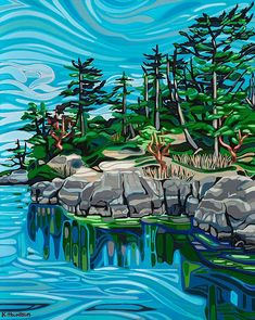 Kimberly Thompson Art Available Limited Edition Prints. Giclee, Canvas and Paper Prints. Landscape Art Quilts, Abstract Landscape, Landscape Paintings, Landscapes, Watercolor Landscape, Art Paintings, Pintura Country, Canadian Art, Native Art