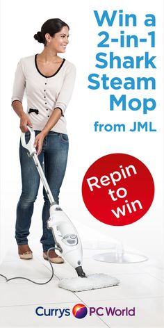 REPIN TO WIN a 2-in-1 Shark Steam Mop! Make floor cleaning quick and effective with the Shark S3901 2-in-1 Professional Steam Pocket Mop. The portable Shark S3901 is able to dust, mop and scrub a wide range of surfaces to keep your home immaculate.  It's now quick and easy to attack dirt and germs with the versatile Shark S3901 2-in-1 Professional Steam Pocket Mop